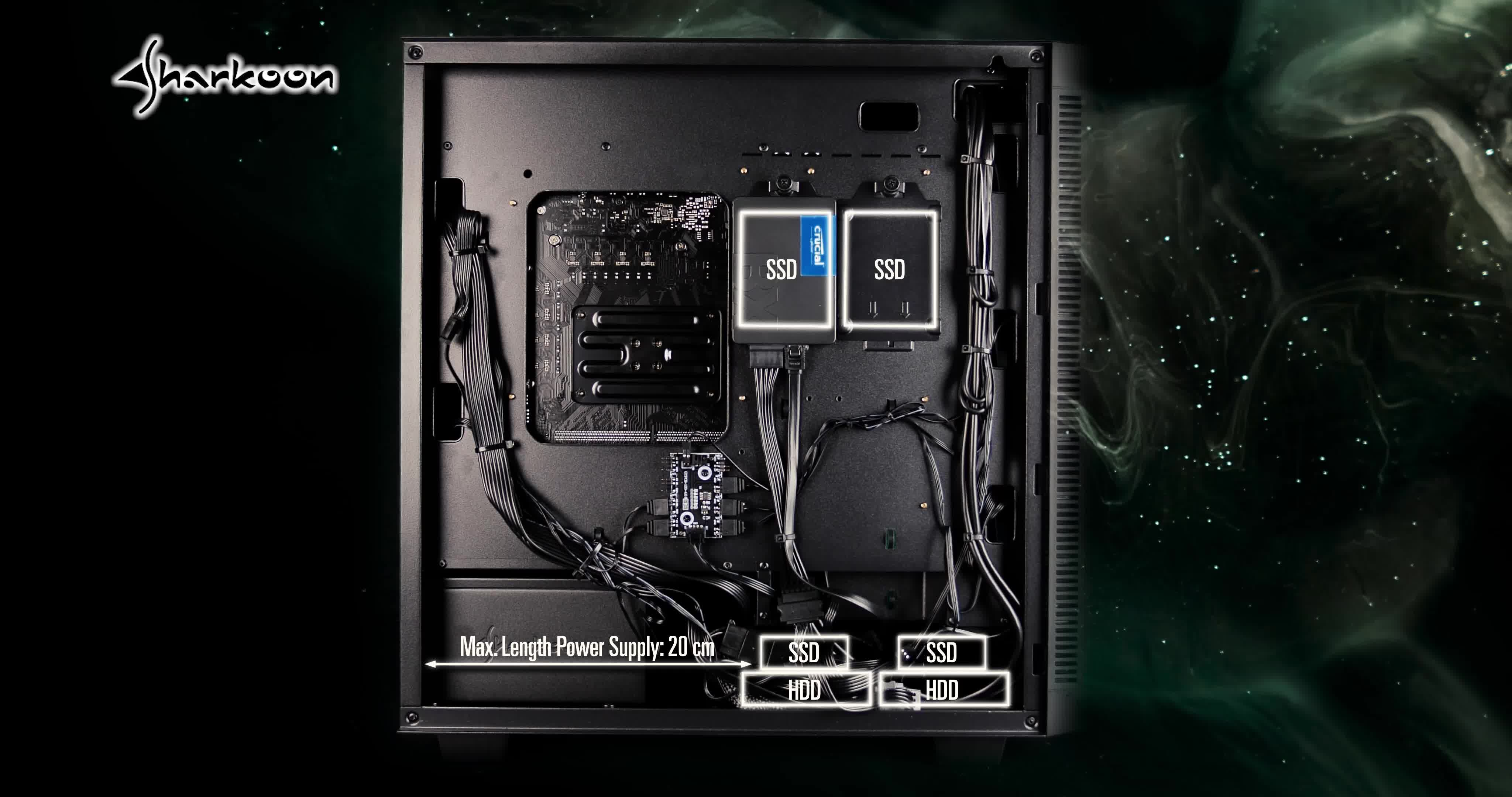 Sharkoon Rev200 Rgb Pc Case Computers Accessories
