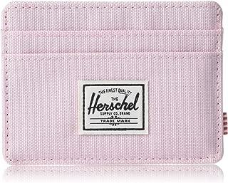 Herschel Charlie Unisex Wallet, Pink Lady Crosshatch