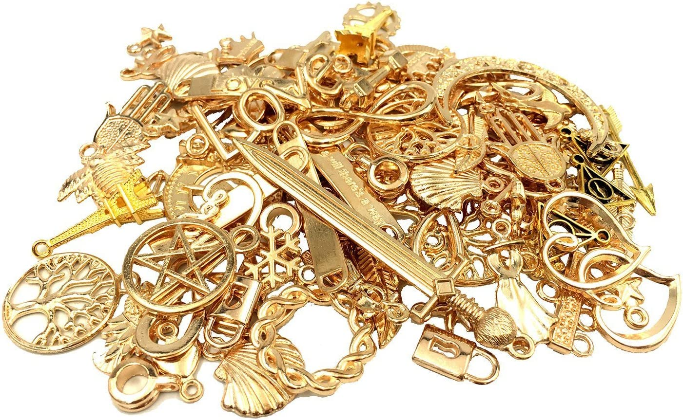 Yansanido 100 Gram approx Ranking TOP3 40-60pcs Assorted DIY Antique Max 88% OFF Charms