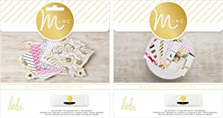 Heidi Swapp Minc Paper Packs for Foiling - 6 x 6 Inch Cardstock with Reactive Toner Designs - 5th Avenue Pack & Signature ...