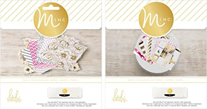 Heidi Swapp Minc Paper Packs for Foiling - 6 x 6 Inch Cardstock with Reactive Toner Designs - 5th Avenue Pack & Signature Pack - 48 Pieces