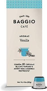 Cápsulas de Café Aroma Vanilla Baggio Café, compatível com Nespresso, contém 10 cápsulas