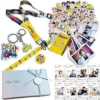 Bangtan Boys New Album Butter Gift Box Set Lanyard Holder Lomo Card Merchandise for Army Girls