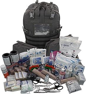 کوله پشتی طبی Luminary Stomp کاملاً آماده کمک های اولیه کیت تروما بسته های ویژه بسته پزشکی برای رفع اشکال EMS / EMT اولین پاسخ دهندگان Preppers و Outdoorsman (تاکتیکی سیاه)