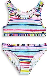 Kelry Badeanzug Kinder M/ädchen Volltonfarbe Fransen Split Bademode Bikini Badebekleidungs Set