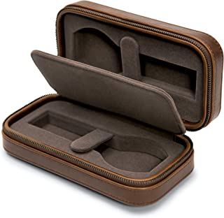 TAWBURY 2 Watch Travel Case for Men Leather – Luxury Watch Pouch with Zipper, Padded Storage, Single Divider for Traveling...