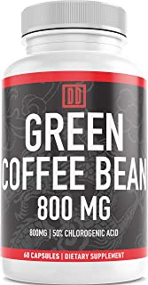 Sponsored Ad - Double Dragon Organics :: Green Coffee Bean Extract - Energy Booster (30 Servings) :: 800MG | 50% Chlorogen...