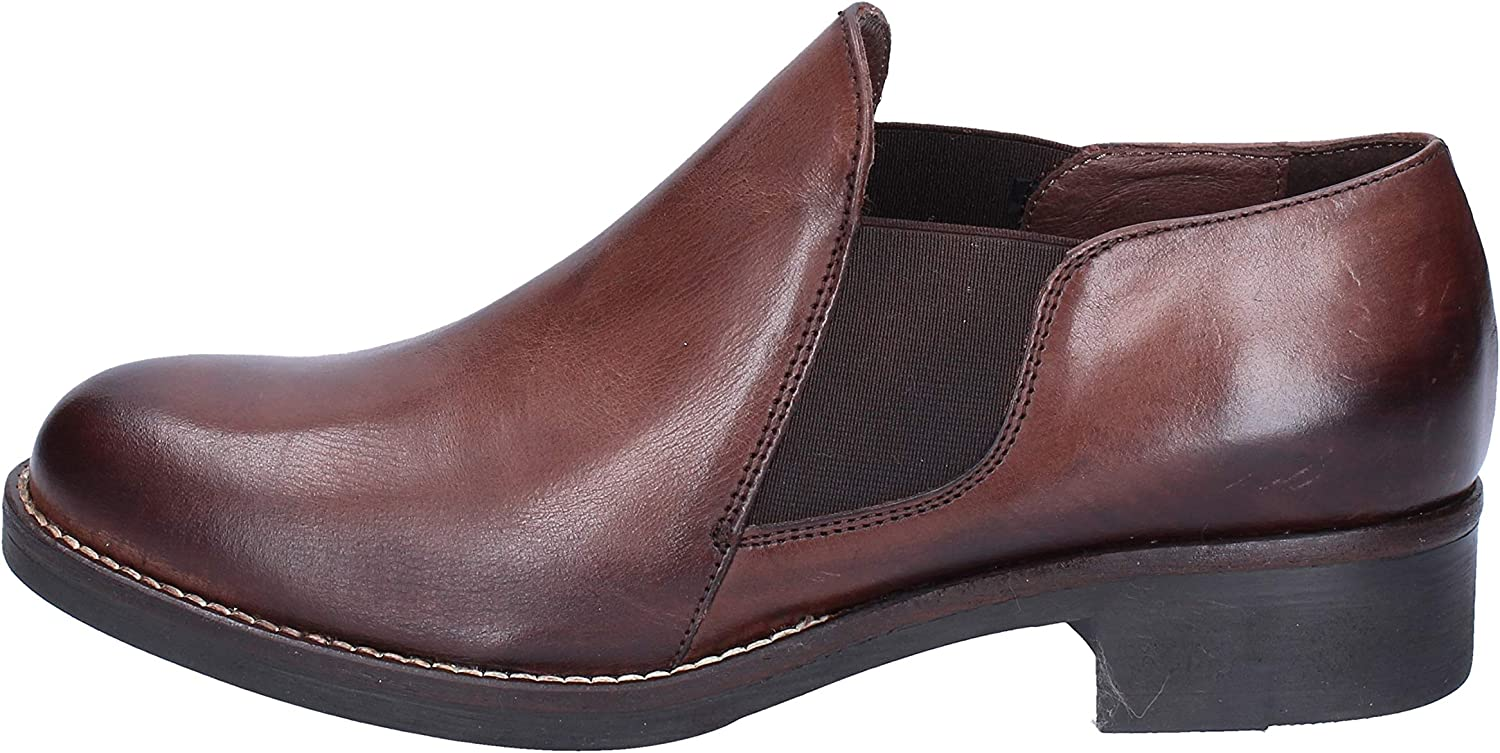 OLGA RUBINI Loafers-shoes Womens Leather Brown