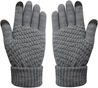 Womens & Girls Touch Screen Warm Soft Winter Knit Texting Gloves Cute Fashion Mittens for Smartphone Iphone Ipad