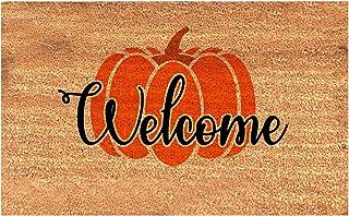 Happy Halloween Welcome Door Mat - Rubber Non Slip Backing Funny Outdoor Doormat Blanket Indoor Rug Front Door Carpet Welc...