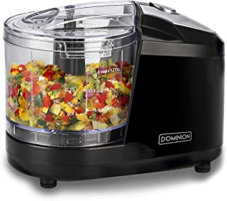 Dominion 1.5 Cup - Electric Mini Food Chopper - Vegetable & Fruit Cutter - Premium Stainless...
