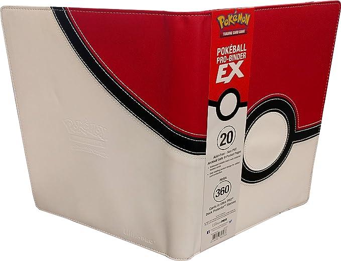 WOTC EX ULTRA PRO Pokemon Card POKEBALL Premium Leatherette Side Loader Binder
