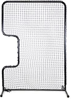 """Jugs Standard C-Shaped Softball Screen —Softball Pitcher & Pitching Machine Protection, 7'H x 5'Wwith a 33"""" x 18"""" Cutout, 45 Ply Poly-E Netting and 1.5"""" Diameter Frame,1-Year Guarantee"""