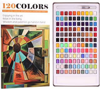 WaterColour Paint Set - 48 Assorted Colours With 2 Paint Brushes,Perfect For Beginners,Budding Hobbyists and Artists (48 C...