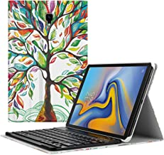 MoKo Keyboard Case for Samsung Galaxy Tab A 10.5 2018 Tablet SM-T590 (Wi-Fi)/SM-T595 (LTE)/SM-T597, Slim Shell Portfolio Business Stand Cover with Detachable Wireless Bluetooth Keyboard, Lucky Tree