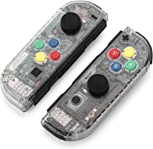 BASSTOP DIY Replacement Shell Case for Nintendo Switch Joy-Con Controller without Electronics (Joycon-Clear)