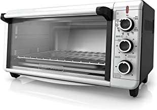 BLACK+DECKER TO3240XSBD 8-Slice Extra Wide Convection Countertop Toaster Oven, Includes Bake Pan, Broil Rack & Toasting Ra...
