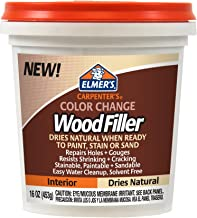 Elmer's E914  Carpenter's Color Change Wood Filler, 16-Ounce, Natural