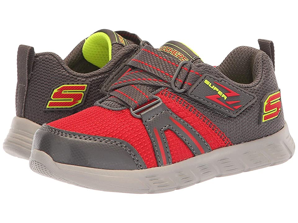 SKECHERS KIDS Comfy Flex Micro Leap (Toddler/Little Kid) (Red/Charcoal) Boy