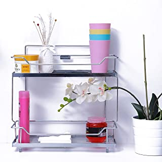 Royalford 2 Tier Kitchen Rack - Rust Free Stainless Steel SCountertop Organizer Holder Rack for Spice Jar, Can, Bottle and...