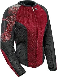 Joe Rocket 1250-0107 Cleo 2.2 Women's Mesh Motorcycle Riding Jacket (Wine/Black/Black, XXX-Large)