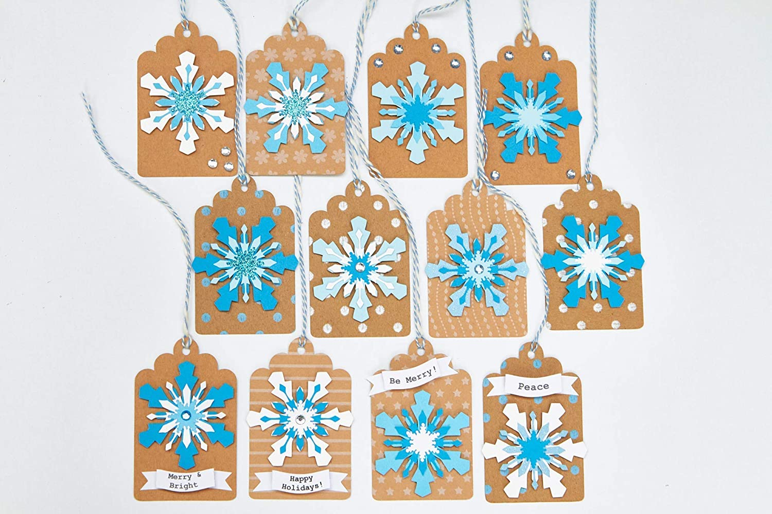 Max 42% OFF Clearance SALE! Limited time! Snowflake Holiday Gift tags Set 12 of