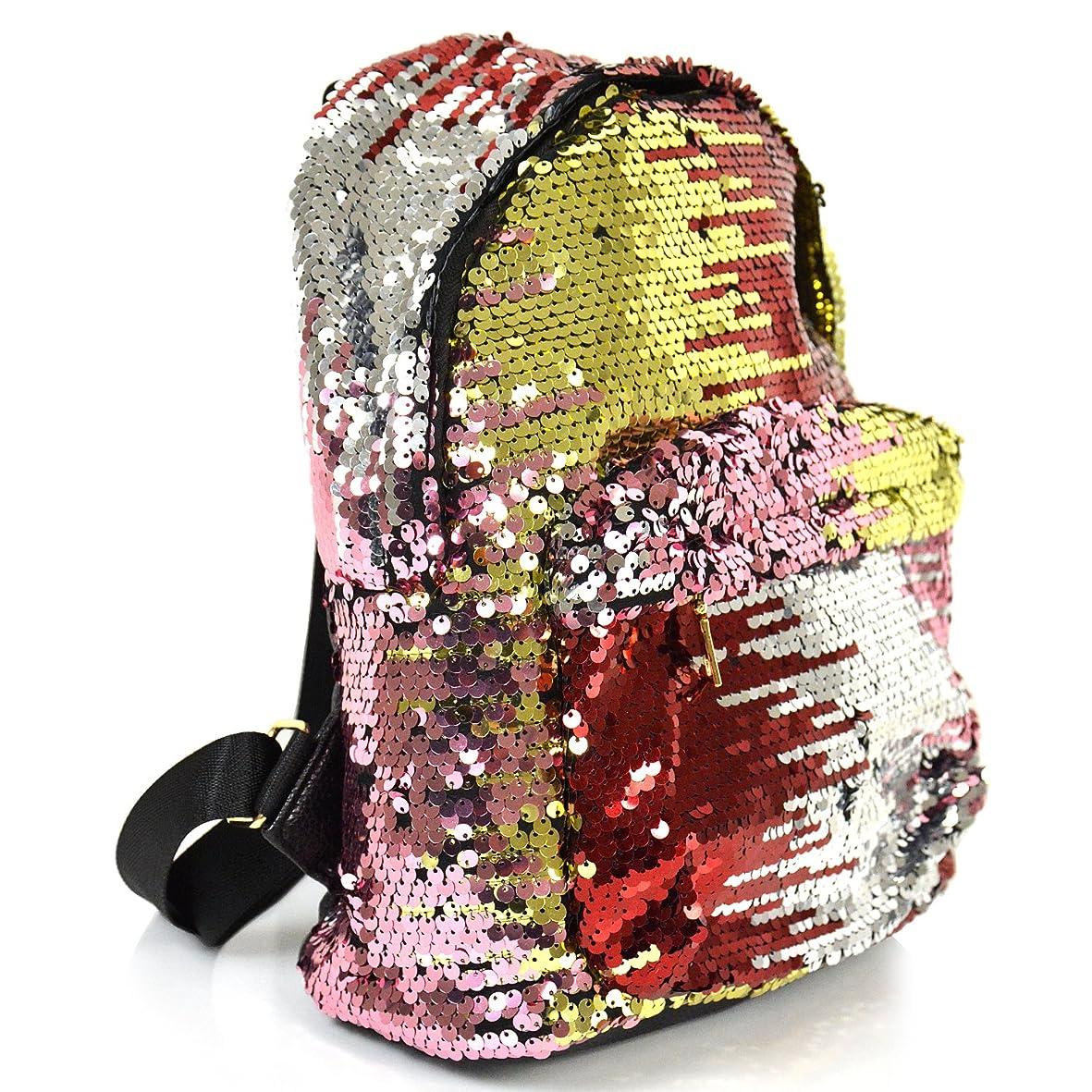 追い付く服を洗う前売総スパンコール リュックサック スクエア ミニサイズ 鞄 リュック レディース