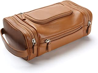Leatherology Cognac Multi Pocket Toiletry Bag