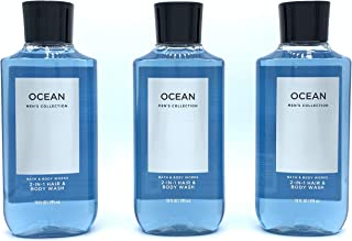 Lot of 3 Bath and Body Works Ocean Signature Collection 2 in 1 Hair Shampoo Body Wash for Men 10 Fl Oz