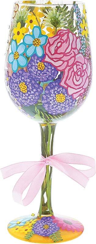 Enesco Lolita 6001350 Spring 2018 Flower Wine Glass