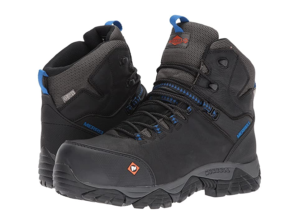 Merrell Work Phaserbound Mid Waterproof CT (Black) Men