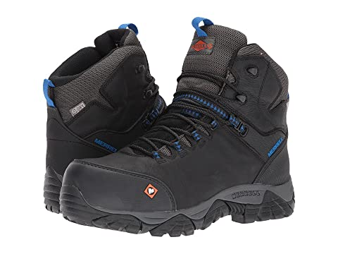 Mid Waterproof Phaserbound Work CT Merrell Negro axqS8PEw