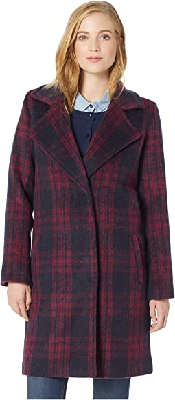 Aldean Plaid Trench Coat