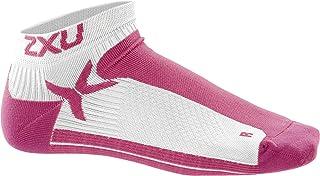 2XU Women's Performance Low Rise Socks, White/Supernova, X-Small/Small