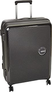 American Tourister Curio 69cm Spin Case Hard Suitcase Luggage Black,White,Pink Medium