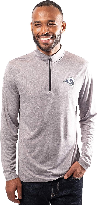 Ultra Game Mens NFL Moisture Wicking sale Sleev Zip Regular store Long Soft Quarter