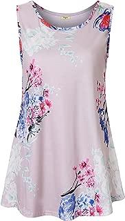 Viracy Women's Summer Casual Sleeveless Swing Tunic Floral Tank Top