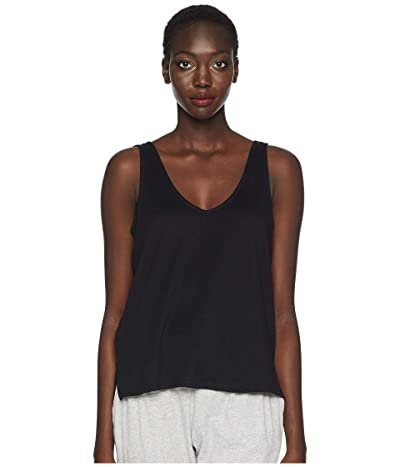 Skin Natural Skin Jaclyn Organic Cotton V-Neck Tank (Black) Women