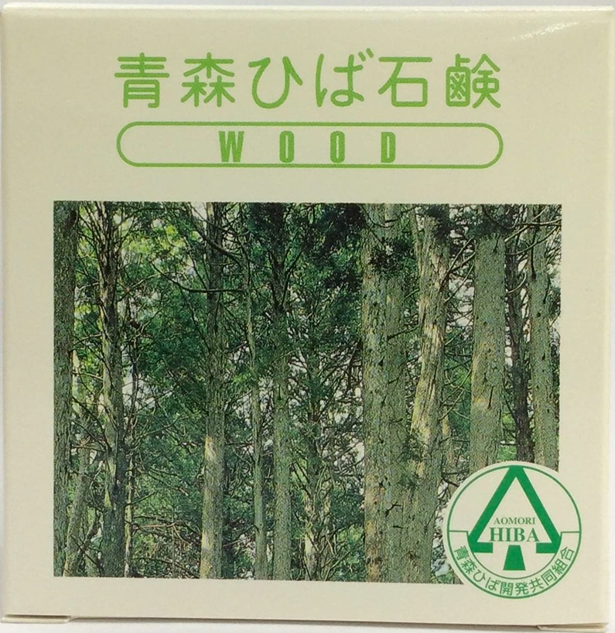 比較検出器ヒープ青森ひば石鹸 WOOD 95g クラウンウッド(Y)