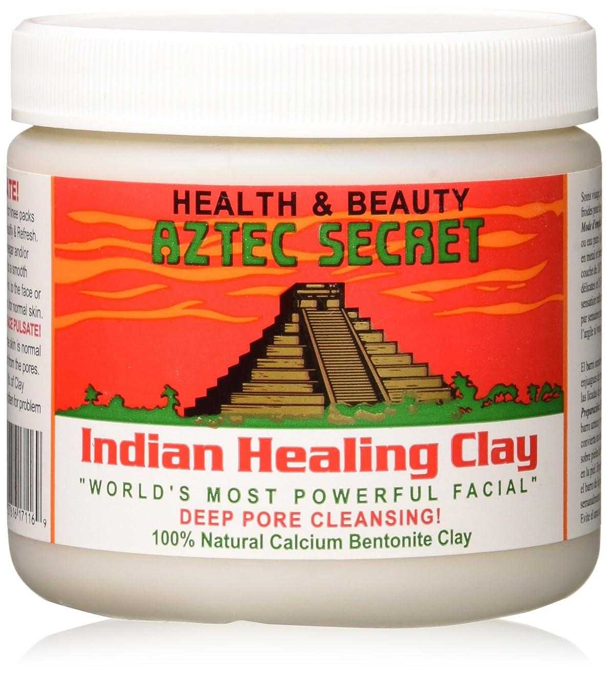 塩カップの間でAztec Secrets: Indian Healing Bentonite Clay, 1 lb by Aztec Secret