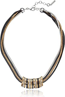 """Nine West High Stakes Frontal Slider Necklace for Women, Multi Tone, 16"""""""