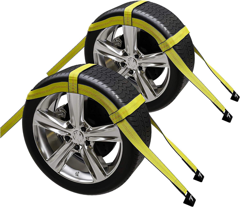 2X Car Basket Straps Adjustable Tow Set Dolly Net Fl Max 82% OFF DEMCO Wheel Seasonal Wrap Introduction