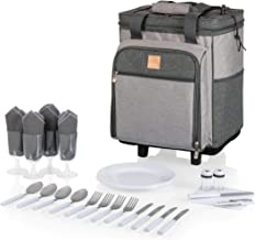 PICNIC TIME Rolling Picnic Cooler, Heathered Gray