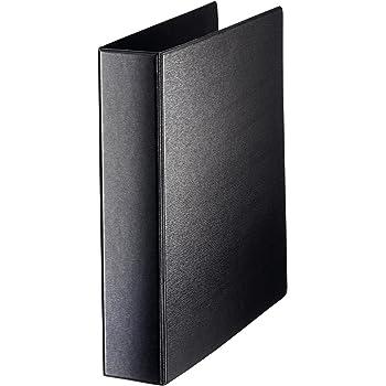 Leitz Ringbuch, A4, Überbreite, Für bis zu 380 Blätter, Mit SoftClick, Rückenbreite 6,9 cm, PP, Schwarz, 46030095