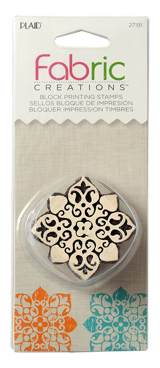 Fabric Creations Block Printing Stamps, 27191 Small Baroque Floral