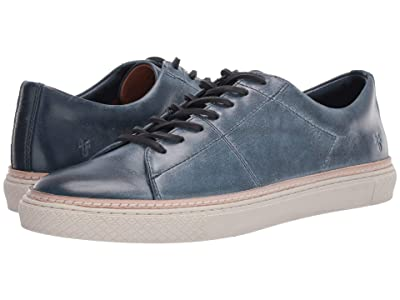 Frye Essex Low Folded Edge (Navy Waxed Antique Pull Up) Men