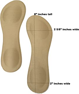 2 x Beige Nude Womens Padded Insole Cushioned Insert Liner for Shoes Heels & Boots Size 5-6