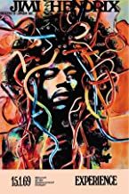 Buyartforless The Jimi Hendrix Experience 1969 Stuttgart 36x24 Concert Music Art Print Poster, white, black, yellow, red, ...