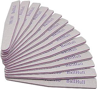 BallHull 25 قطعة من ملفات الأظافر مزدوجة الوجهين مجلس الصبار 100 180 حصى مسمار ملف الأظافر تطبيق فن الأظافر DIY.
