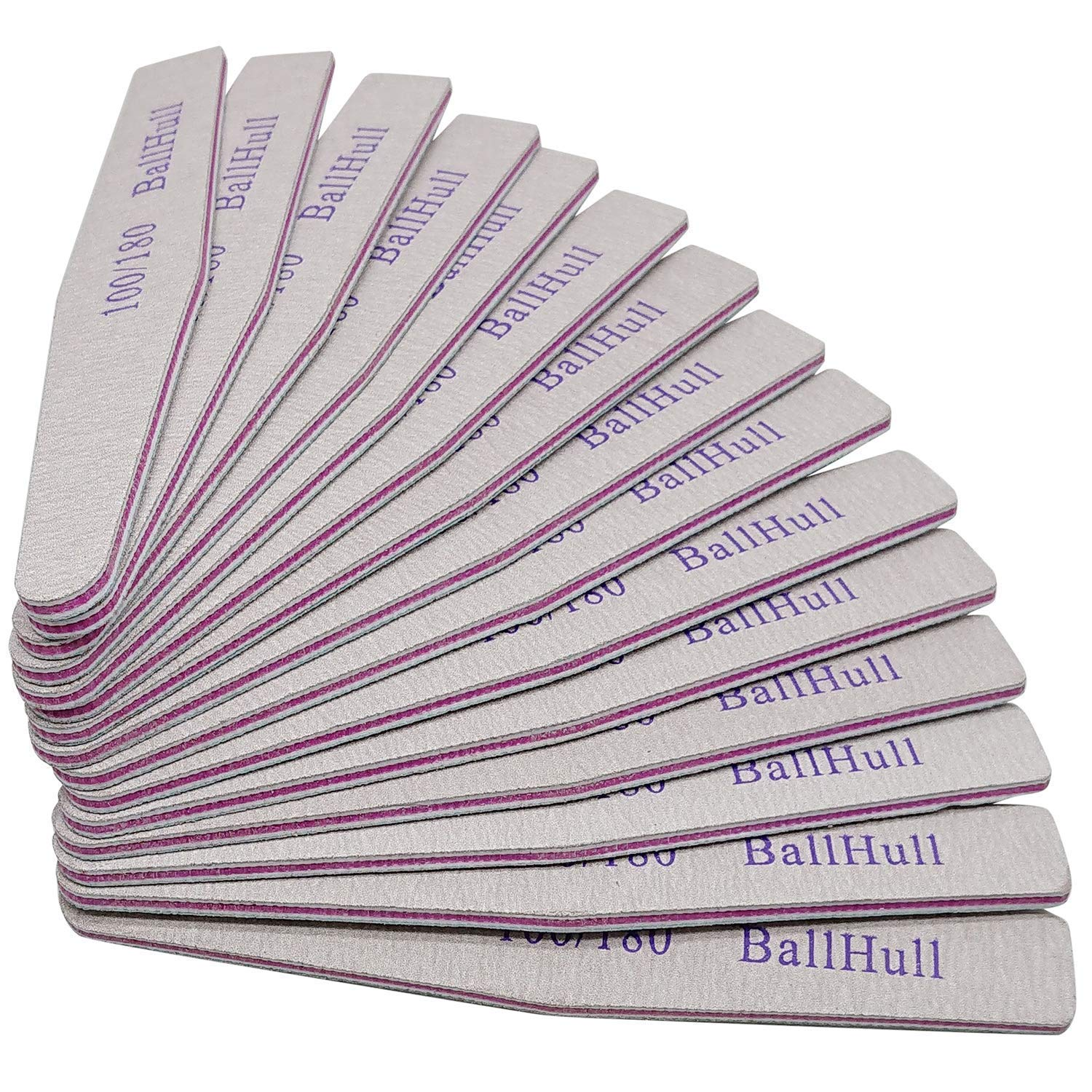 BallHull 15 Pcs Indefinitely Nail Files Double Emery Grit Board 180 Sided supreme 100